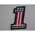 NOS Vintage Harley #1 Red, White and Blue Patch